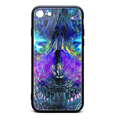 iPhone 6S Plus Case iPhone 6 Plus Case Trippy Trance Mix 9H Tempered Glass Back Cover Soft TPU Frame Scratch Resistant Shock Absorption Compatible for iPhone 6/6s -