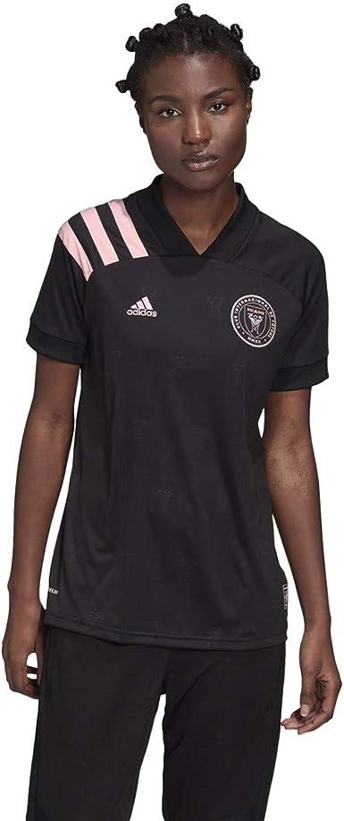 Político comentario activación  Amazon.com: adidas Inter Miami 2020-21 - Camiseta de manga corta para  mujer, talla M, color negro y rosa: Clothing