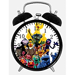 Sesame Street Twin Bells Alarm Desk Clock 4 Home Office Decor W96 Nice for Gifts