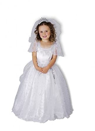 Childrens Girls Toddler Bride Wedding Dress Fancy Dress