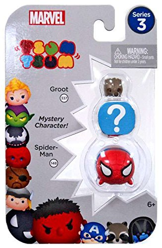 Tsum Tsum Marvel Series 3 Spider-Man, Groot & Mystery Figure