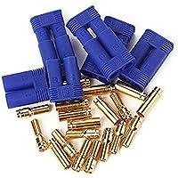 RipaFire 10 Pairs Male Female EC5 Banana Gold Bullet Plug Connector 5mm RC ESC Lipo Battery Motor