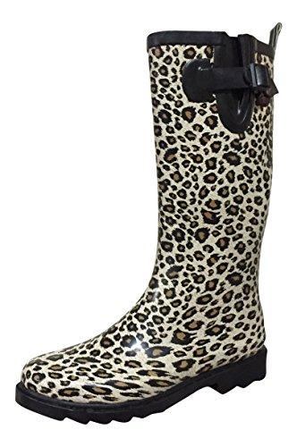 PSW Womens MSTKH Rain Boots, Cheetah, 8 M (Cheetah Footwear)