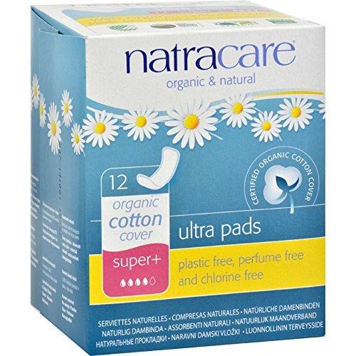 Ultra Pads,Organic Cotton Cover,Super Plus Natracare 12 Pads Box