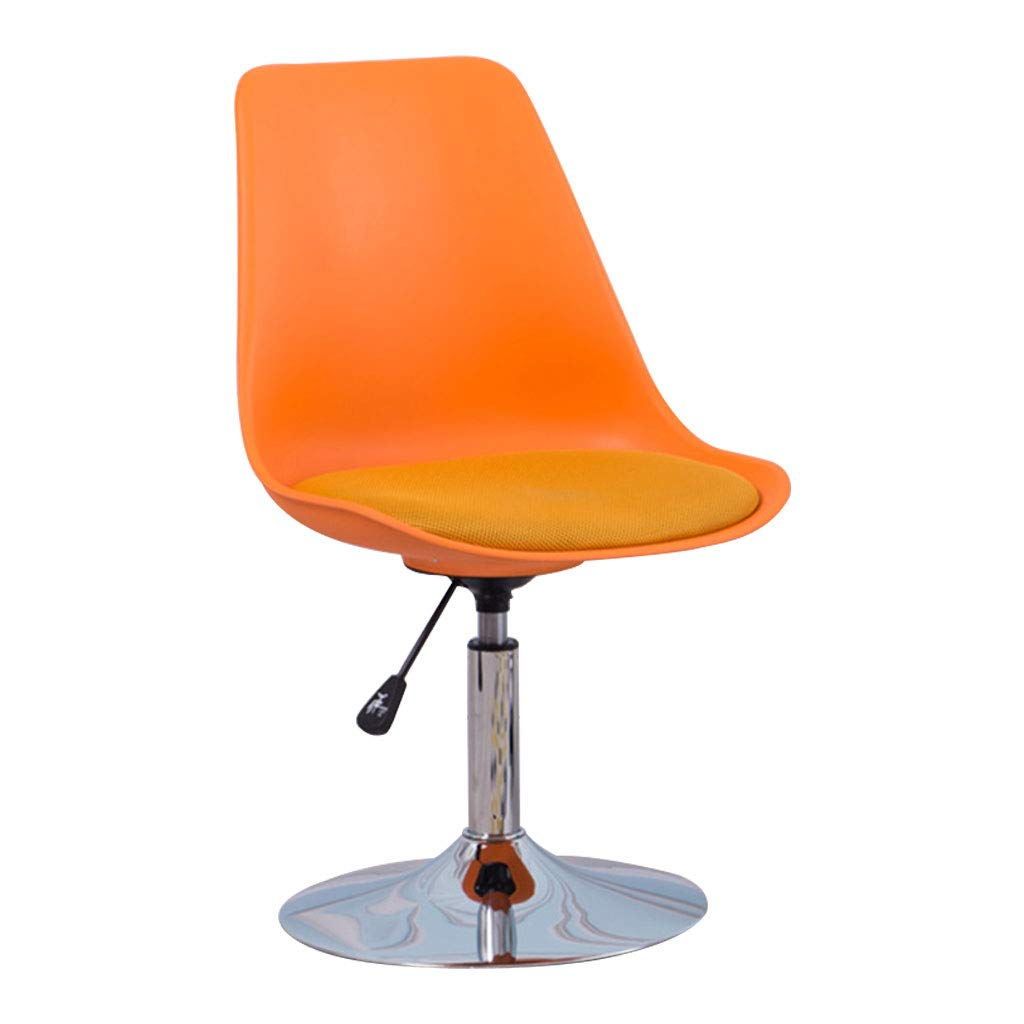 orange Plastic Chair Leisure Chair, Non-Toxic and Tasteless PP Resin Material, Height Adjustable Ergonomic Backrest, Suitable for Bedroom Study, orange, bluee (82  41  49cm)