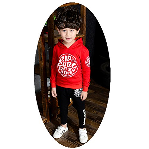 FTSUCQ Kids Pullover Sports Tracksuits Hoodie Sweatershirt Coat + Pants,Red - Uk Free Discounts Vouchers Cards And Gift