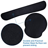 Jmkcoz Keyboard Wrist Rest Pad and Mouse Wrist Rest Support Mouse Pad for Computer and Laptop Mac Durable Comfortable Lightweight Non Slip Pad For Easy Typing Pain Relief Office Home Use