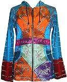 Agan Traders 318 RJ Patch Bohemian Jacket (S, Turquoise/Orange)