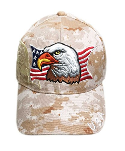Aesthetinc Patriotic USA American Flag Print Baseball Cap Embroidered (Marine Digital Camo)