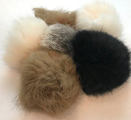 Barker Brands Inc. Real Fur Balls Natural Cat Toy 6 Pack 3