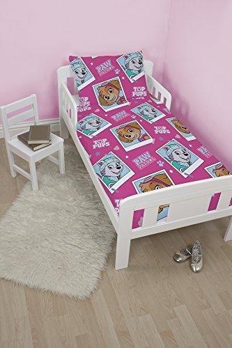 - Paw Patrol 'Stars' Design Junior / Cot Bed Size Duvet Set