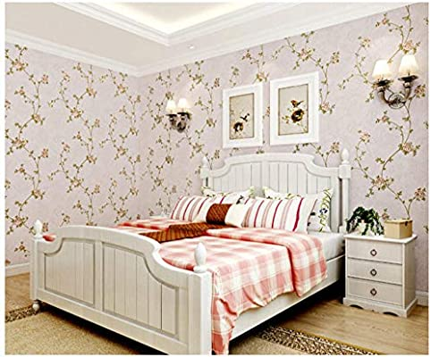 3d Wallpaper Peel And Stick Pink Green Beige Coffee Victorian