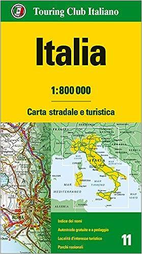 Cartina Italia In Inglese.Amazon It Italia 1 800 000 Carta Stradale E Turistica Lingua Inglese Aa Vv Libri In Altre Lingue
