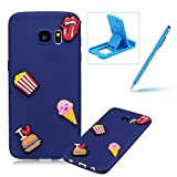 Soft TPU Case for Samsung Galaxy S7,3D Silicone Cover for Samsung Galaxy S7,Herzzer Candy Color Series Design Soft Gel Durable Slim Fit Flexible Scratch-Resistant Rubber Bumper Case for Samsung Galaxy S7