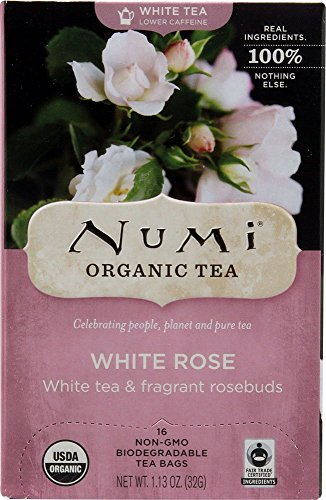 Numi Organic Tea White Rose, Full Leaf White Tea (6x16 Bag)
