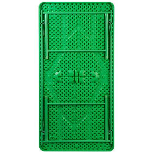 Flash Furniture 30''W x 60''L x 19''H Kid's Green Plastic Folding Table by Flash Furniture (Image #2)