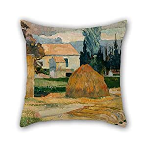 Alphadecor 18 X 18 Inches / 45 By 45 Cm Oil Painting Gauguin, Paul - Landscape Near Arles Pillow Cases ,each Side Ornament And Gift To Him,adults,chair,home,dinning Room,kids Girls