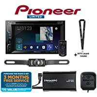 Pioneer AVH-1440NEX 6.2 DVD Receiver Apple CarPlay with SiriusXM Tuner and a Backup Cam and a SOTS Lanyard