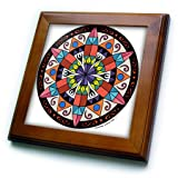 3dRose LLC ft_23186_1 Hex Sign 1 Pennsylvania Dutch Luck Protection Symbol Framed Art, 8 by 8-Inch