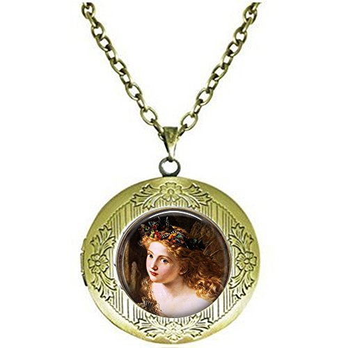 Sophie G. Anderson's The Fairy Queen- Butterfly Crown - Childhood Innocense Locket Necklace