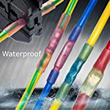 Heat Shrink Wire Connector JACKYLED 200pcs 22-10GA Waterproof Seal Assorted Wire Electrical Crimp Connectors Automotive Terminals Set (100Red 60Blue 40Yellow)