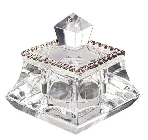 Fancy Jewelry Box (5th Avenue Collection Italian 24 Percent Crystal Trinket Box w/ Pink)
