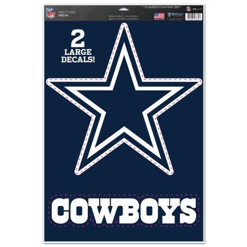 WinCraft NFL Dallas Cowboys WCR13030115 Multi-Use Decal, 11