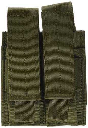 (Voodoo Tactical MOLLE Compatible Double Pistol Magazine Pouch - Olive)