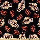 MLB Fleece San Francisco Giants Toss Black Fabric By The Yard