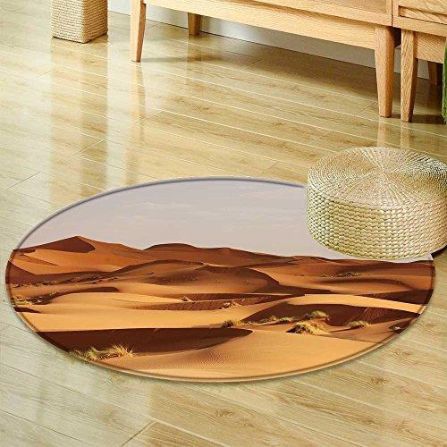 Sahara Small Rug - Small Round Rug CarpetSand Dunes of erg chebbi int he Sahara Desert Morocco Door mat Indoors Bathroom Mats Non Slip-Round 63
