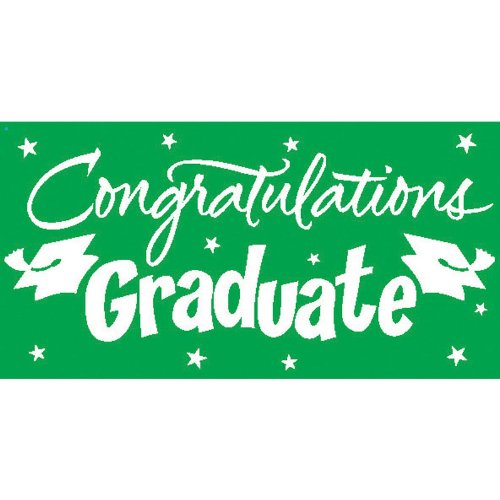 Creative Converting Congrats Grad Paper Art Gigantic Greetings, Green