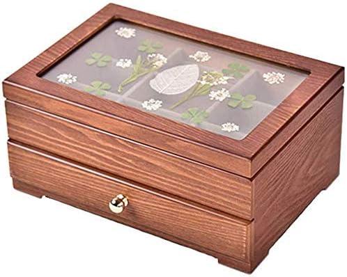 WOWOGA Joyero Vintage Cerradura Joyero Caja de Almacenamiento de ...