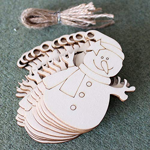 20 PCS Wooden Christmas Ornaments Christmas Tree Blank