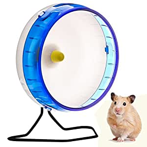 Love Hamster Wheel | 8.3Inches Various Color Pet Silent Spinner Exercise Wheel | Durable Thick Disc Wall Design and Stable Circular Edge Set with Removable Shaft | Premium PP Material