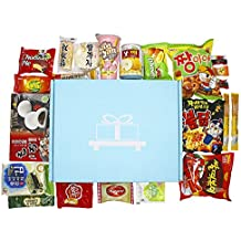 Akibento Deluxe Asian Snack Box (22 Count) | Variety Assortment of Premium Japanese Candy, Korean Snacks and Asian Sweets! | College Care Package | Gift Care Package | Nom Box