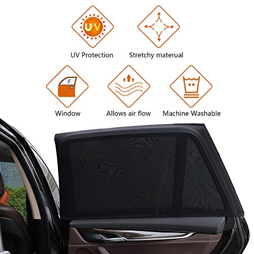 Zoto Car Rear Window Sun Shade Premium Breathable Mesh Sun Shield Protect Baby//