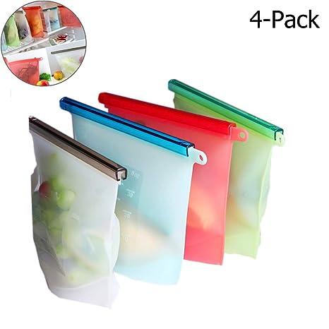 4-Pack Ziplock a prueba de fugas conservación de alimentos ...