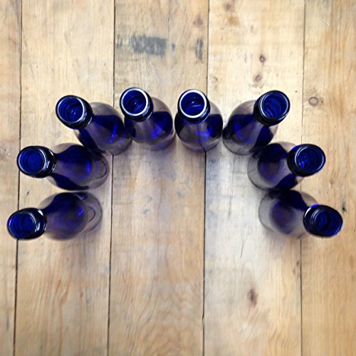 Cobalt Blue Bottles lot of 24 - Glass Blue Bottle