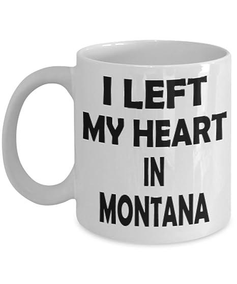 Amazon com: Funny Montana Gifts 11oz Coffee Mug - I Left My