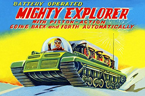 ArtParisienne Mighty Explorer with Piston Action 12x18-inch Paper Giclée Print ()