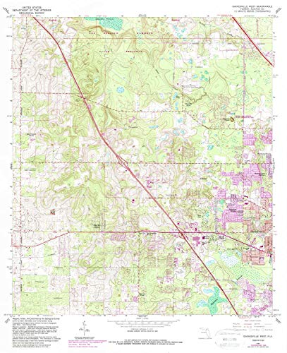 YellowMaps Gainesville West FL topo map, 1:24000 Scale, for sale  Delivered anywhere in USA