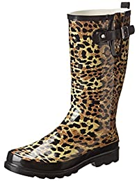 Western Chief Women's Leopard Exotic Rain Boot