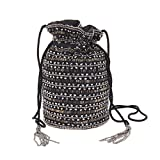 From St Xavier Knox Beaded Drawstring Pouchette, Black