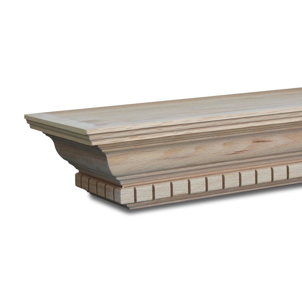 Winfield Mantel Shelf 60in W x 7-3/4in D x 4-3/8in H Red Oak