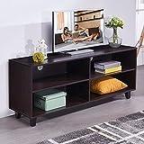 soges 58.3'' TV Stand Living Room Entertainment Center Media Storage Console, Espresso TV-QS-743