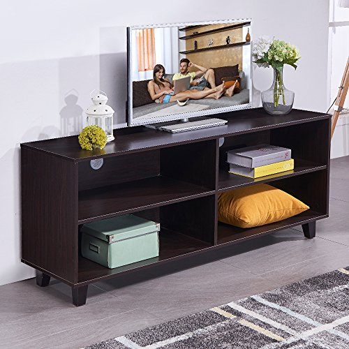 soges 58.3'' TV Stand Living Room Entertainment Center Media Storage Console, Espresso TV-QS-743 by soges