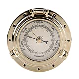 Barometer, Rome Retro Barometer Clock Temperature