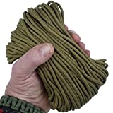 MilSpec Paracord Coyote Brown 498, 55 ft. Hank, Military Survival Braided Parachute 550 Cord. Use with Paracord Tools for Tent Camping, Hiking, Hunting Ropes, Bracelets & Projects. Plus 2 eBooks.