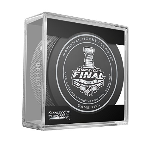 2014 NHL Stanley Cup Finals Game 5 Puck in Cube - New York Rangers vs. Los Angeles Kings