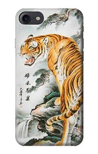 R2750 Oriental Chinese Tiger Painting Case Cover For IPHONE 8
